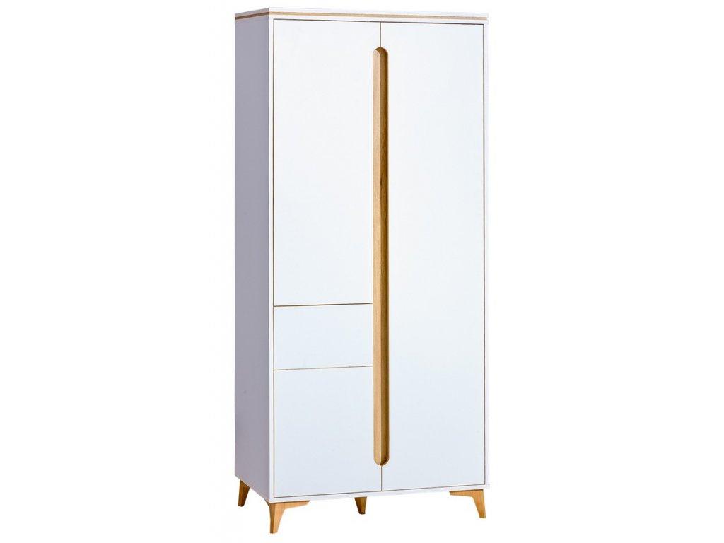 Šatní skříň PAGINO 1 bílá/jasan