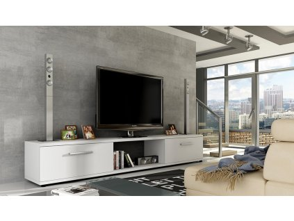 TV stolek MALLTON bílá mat