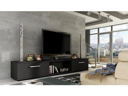 TV stolek MALCOM černá mat