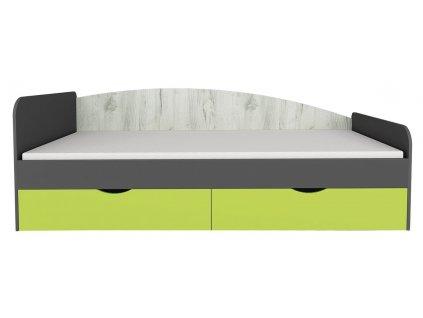 Postel 90x200 DISNEY dub kraft bílý/šedý grafit/limeta