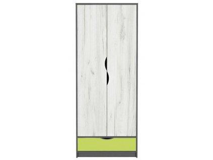 Šatní skříň 2D DISNEY dub kraft bílý/šedý grafit/limeta