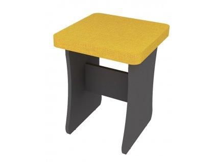 Jídelní stolička DOMINO šedý grafit/hořčicová