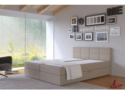 Postel s matrací s ÚP TISA 160x200cm (PUR - I23)