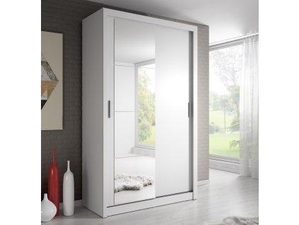 Šatní skříň 06 ARTI 120 bílá zrcadlo