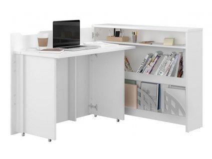 Rozkládací psací stůl levý REBECCA bílá