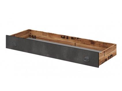 Zásuvka pod postel DRAKE 16 smrk/steel
