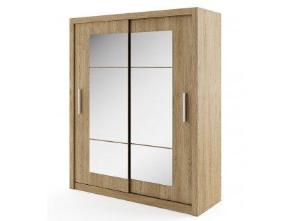 Šatní skříň IDEA 02 shetland zrcadlo 180 cm