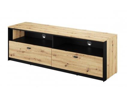 Televizní stolek TOPRI 03 2S dub artisan/černá