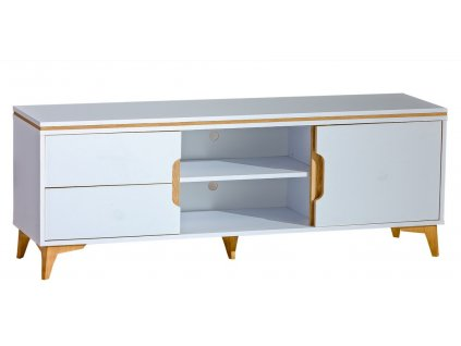Televizní stolek PAGINO 8 bílá/jasan