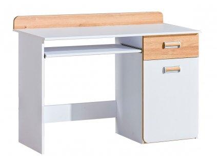 LIMO L10 pracovní stůl bílá/dub nash