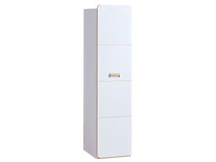 LIMO L2 šatní skříň bílá/dub nash