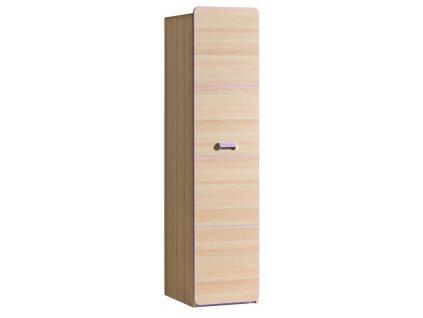 LIMO L2 šatní skříň jasan/fialová