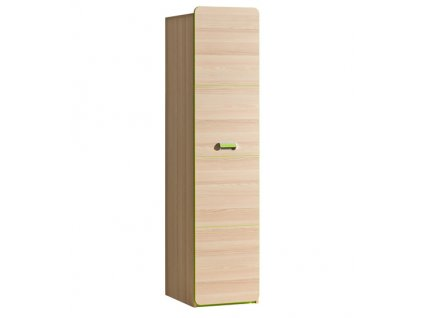 LIMO L2 šatní skříň jasan/zelená