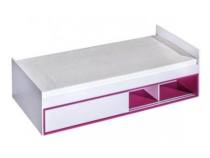 Postel 90x200 TRAFICO 13 bílá/růžová