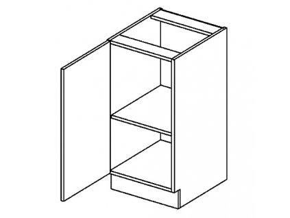 D40L dolní skříňka jednodvéřová PREMIUM de LUX hruška