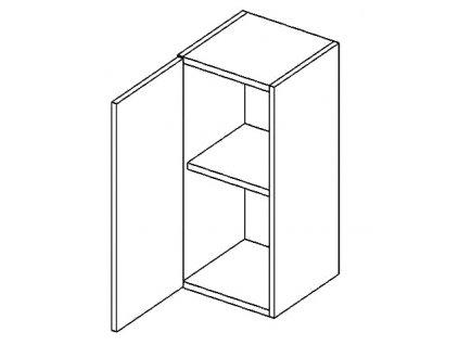 W30L horní skříňka jednodvéřová PREMIUM hruška
