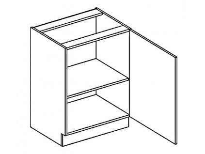 D60P dolní skříňka jednodvéřová NORA hruška