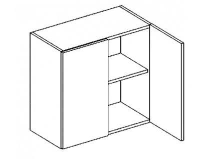 W60 horní skříňka dvojdvéřová NORA hruška
