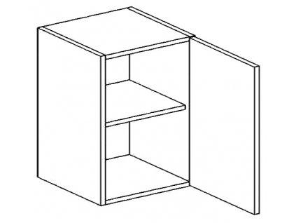 W60P horní skříňka jednodvéřová NORA hruška