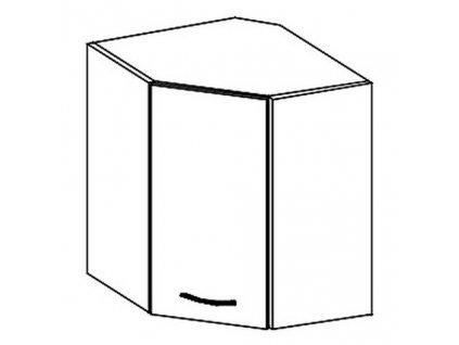 WRP horní rohová skříňka GREY pravá