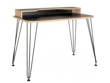 Pracovní stůl BRAYDEN 3 12.66 černá/dub sonoma
