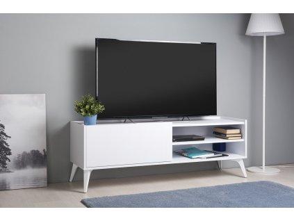 Televizní stolek GLOOM bílá