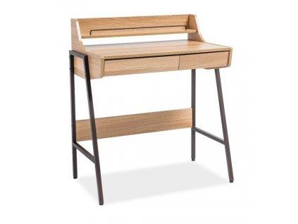 Pracovní stůl B-168 dub/tmavě hnědá
