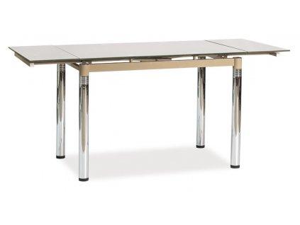 Jídelní stůl GD-018 rozkládací tm. béžová