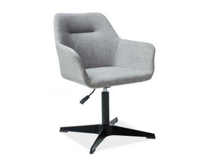 Jídelní čalouněná židle KUBO šedá
