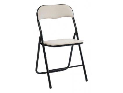 Kovová čalouněná židle TIPO béžová