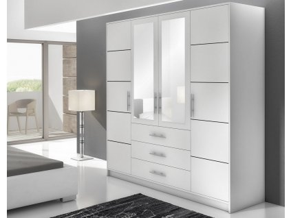 Šatní skříň BASILIO D4 bílá