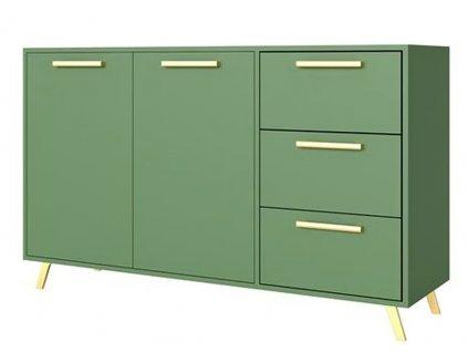 Komoda 2D3S BASILIO zelená