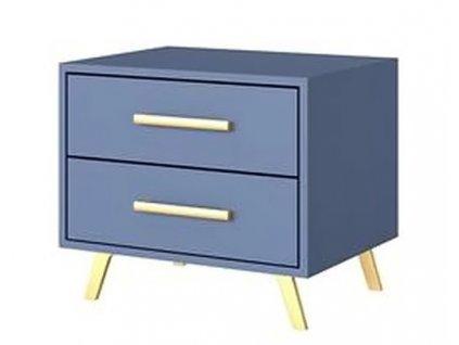 Noční stolek 2S BASILIO modrá