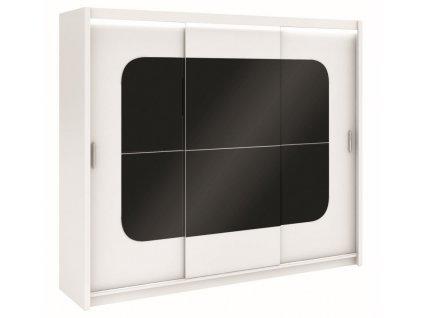 Šatní skříň FREMONT 250 bílá