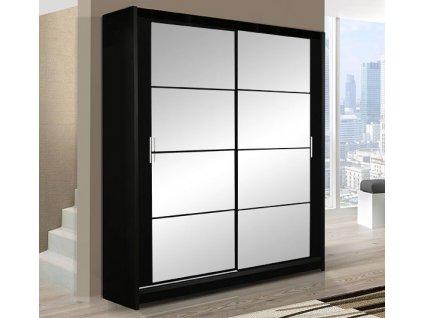 Šatní skříň DOUGLAS 160 černá