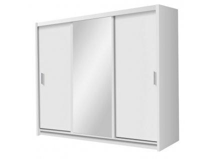Šatní skříň MONZA 250 bílá