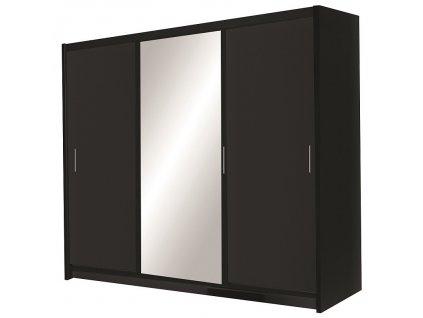Šatní skříň MONZA 250 černá