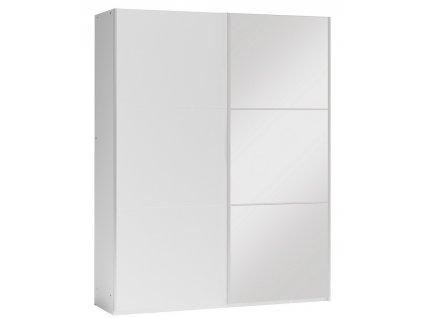 Šatní skříň VALERIANO 150 bílá/bílá