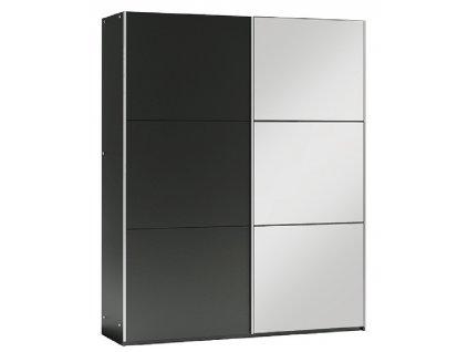 Šatní skříň VALERIANO 150 černá/černá