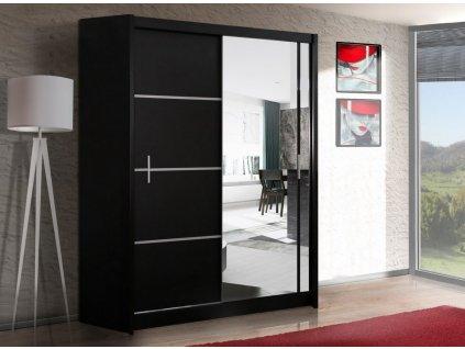 Šatní skříň SANDINO 150 černá