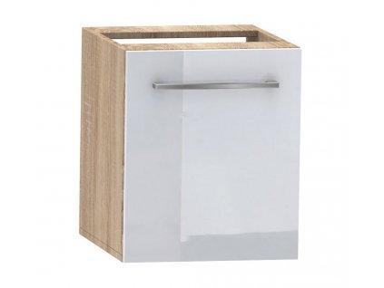 D40 skříňka spodní CAMPO bílá lesk