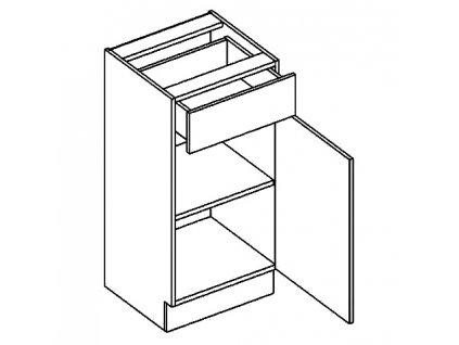 D40S/1 dolní skříňka se zásuvkou DICKSON pravá