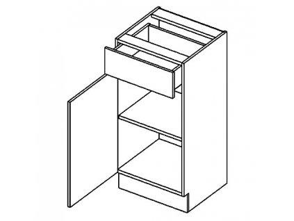 D40S/1 dolní skříňka se zásuvkou DICKSON levá