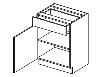 D60S/1 dolní skříňka se zásuvkou DICKSON levá