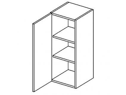 W30 horní skříňka jednodvéřová DICKSON levá