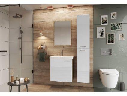 Koupelnová sestava DUNDALK I bílá lesk