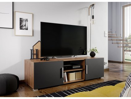 Televizní stolek JERSEY dub artisan/grafit