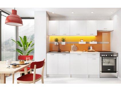 Kuchyně MELVIN 240 s PD bílá mat