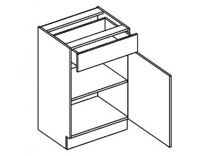 D50/S1 dolní skříňka se zásuvkou CLAUDIE sonoma