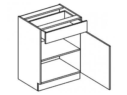 D60/S1 dolní skříňka se zásuvkou CLAUDIE sonoma